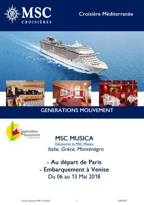 2 offre msc croisieres 2018 musica du 06 au 13 mai 2018 page 1