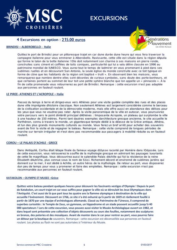 7 offre msc croisieres 2018 musica du 06 au 13 mai 2018 page 6